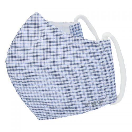 Elegantna antibakterijska maska TNG Bela kvadratna, troslojna, velikost L
